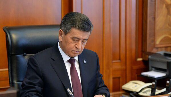 Президент Кыргызской Республики Сооронбай Жээнбеков - Sputnik Тоҷикистон