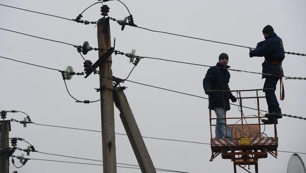 Отключение электроэнергии, архивное фото - Sputnik Тоҷикистон
