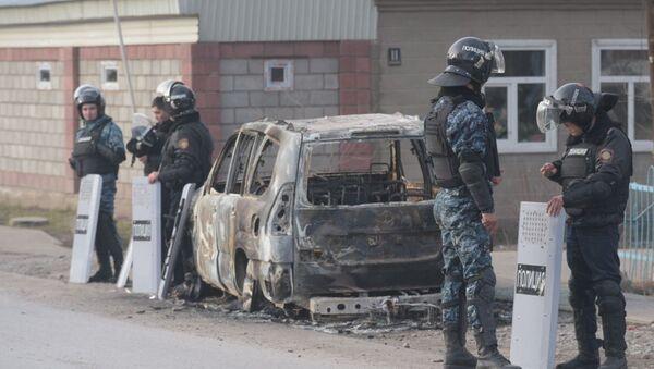 Полиция в Казахстане после беспорядков - Sputnik Таджикистан