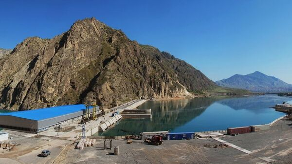 Плотина Сангтудинской ГЭС в Таджикистане - Sputnik Таджикистан