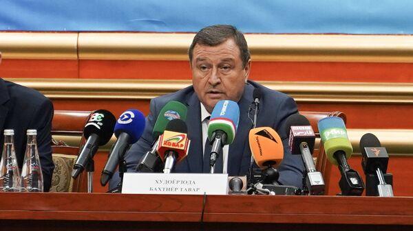 Глава ЦИК Бахтиёр Худоёрзода огласил результаты парламентских выборов - Sputnik Тоҷикистон