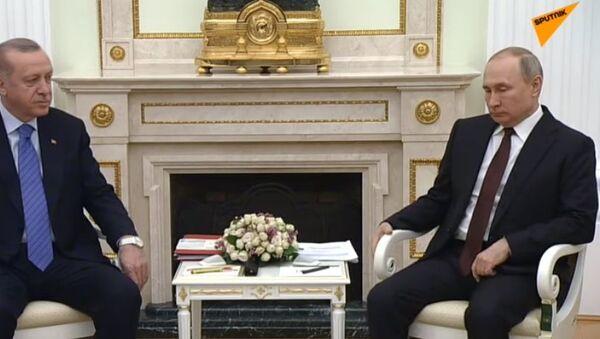 Переговоры Путина и Эрдогана - видео - Sputnik Тоҷикистон