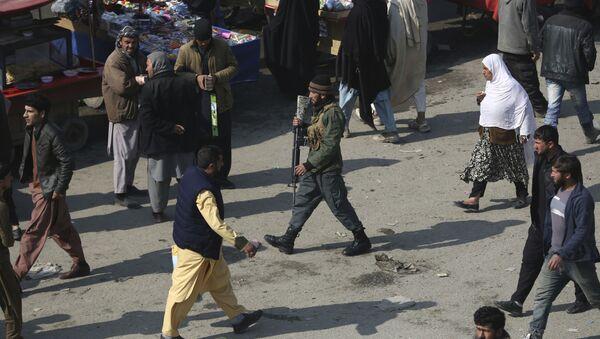 Офицер полиции в Кабуле, архивное фото - Sputnik Таджикистан
