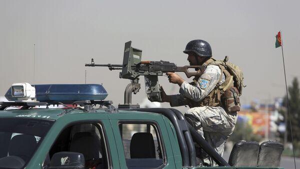 Афганский офицер безопасности - Sputnik Таджикистан