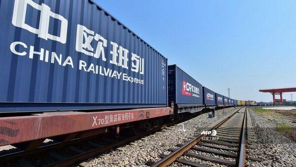 Грузовой китайский поезд, архивное фото - Sputnik Таджикистан