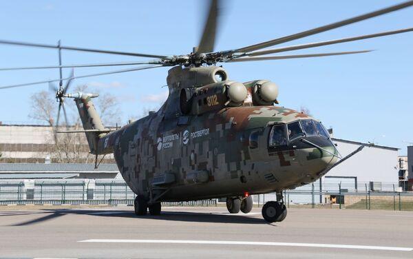 Тяжелый военно-транспортный вертолет Ми-26Т2В - Sputnik Таджикистан
