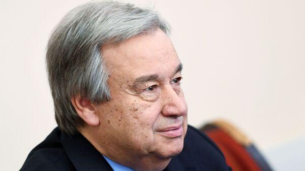 Генеральный секретарь Организации Объединенных Наций Антониу Гутерриш - Sputnik Тоҷикистон