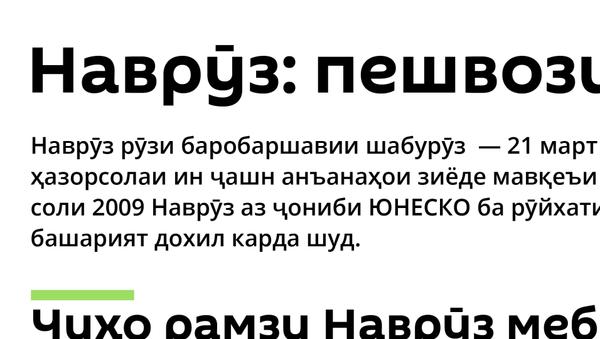 Наврӯз: пешвози Соли нав - Sputnik Тоҷикистон
