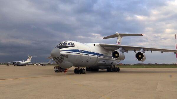 Военно-транспортный самолет ВКС России Ил-76 МД - Sputnik Тоҷикистон
