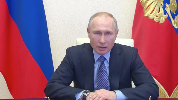 Обращение Владимира Путина к нации в связи с пандемией коронавируса - Sputnik Тоҷикистон