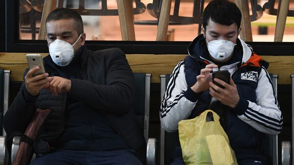 Ситуация в связи с коронавирусом в аэропорту - Sputnik Таджикистан