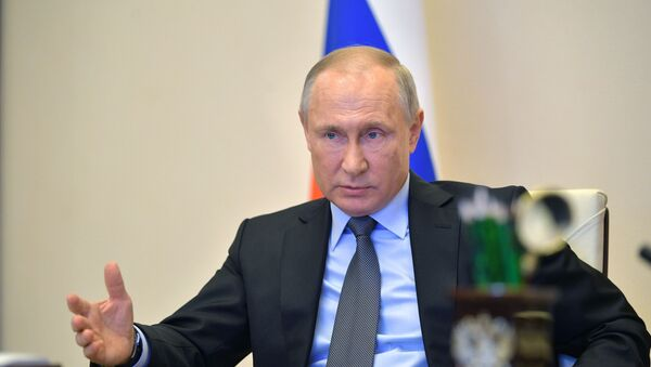 Президент РФ В. Путин провел совещание по развитию ситуации с коронавирусом - Sputnik Тоҷикистон
