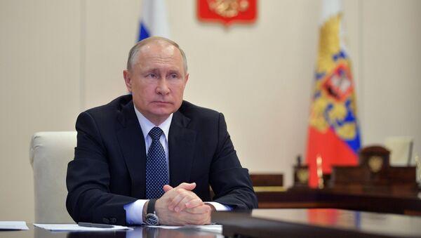 Онлайн-конференция Владимира Путина с правительством - Sputnik Тоҷикистон