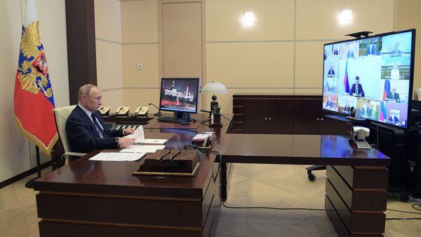 Президент РФ В. Путин провел совещание с членами правительства РФ - Sputnik Тоҷикистон