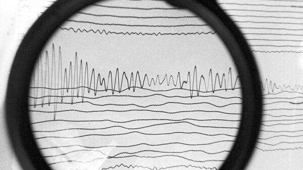 Сейсмограмма землетрясения, архивное фото - Sputnik Тоҷикистон