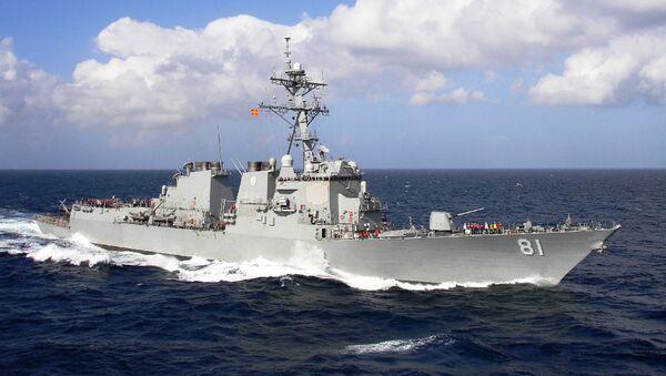 Эсминец USS Winston S. Churchill  - Sputnik Тоҷикистон