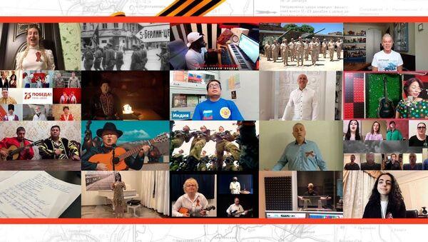Более миллиона человек из 60 стран исполнили песню День Победы - YouTube - Sputnik Тоҷикистон