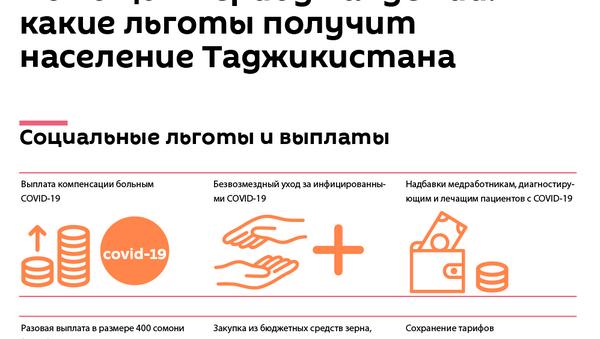 Помощь в период пандемии: какие льготы получит население Таджикистана - Sputnik Таджикистан
