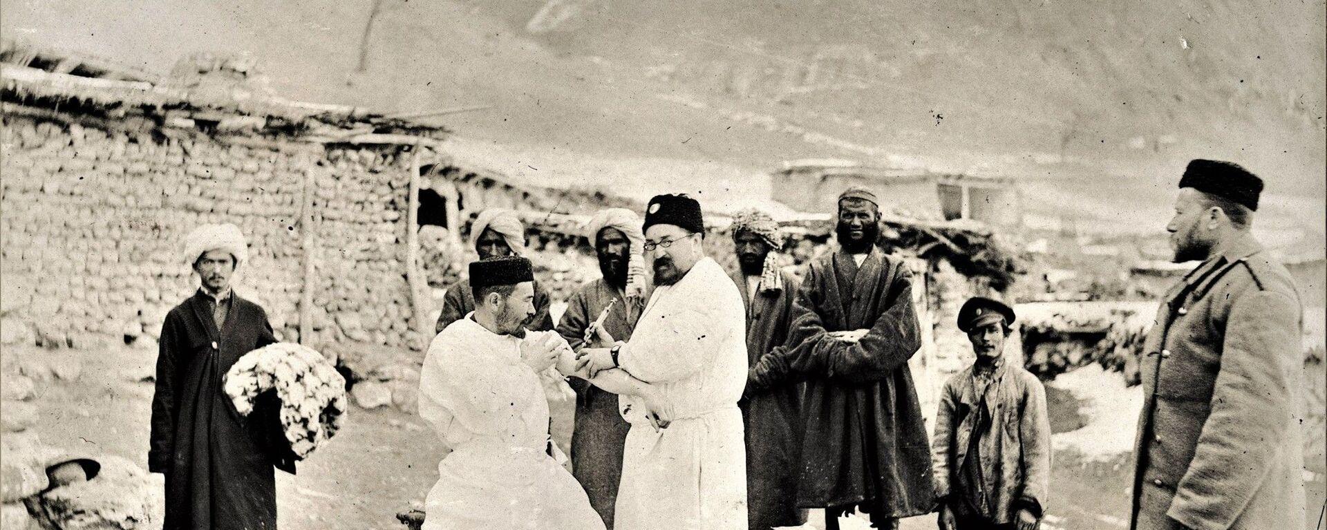 Противочумная экспедиция в Анзоб, архивное фото - Sputnik Таджикистан, 1920, 04.06.2020
