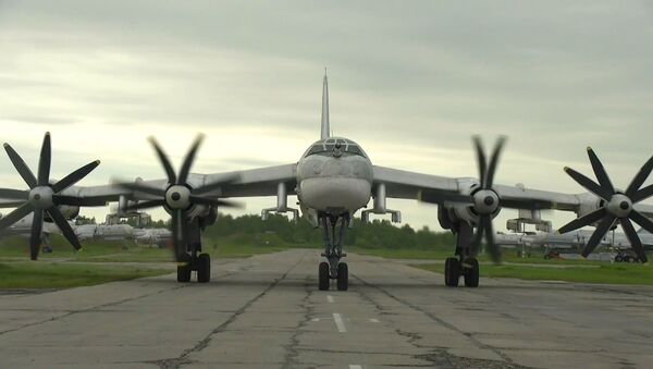 Истребители F-22 ВВС США сопроводили российские ТУ-95МС в нейтральных водах Тихого океана - Sputnik Таджикистан