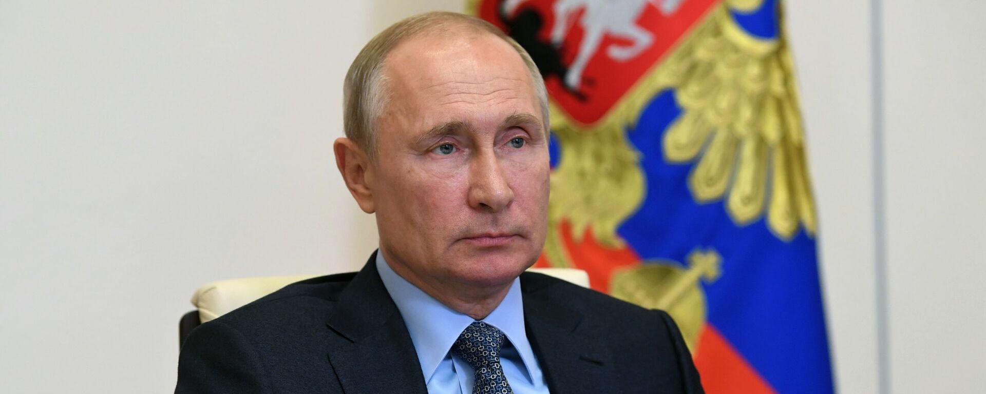 Президент РФ В. Путин провел совещание о реализации мер поддержки экономики и социальной сферы - Sputnik Таджикистан, 1920, 19.06.2020