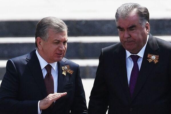 Президент Узбекистана Шавкат Мирзиеев и президент Таджикистана Эмомали Рахмон - Sputnik Таджикистан