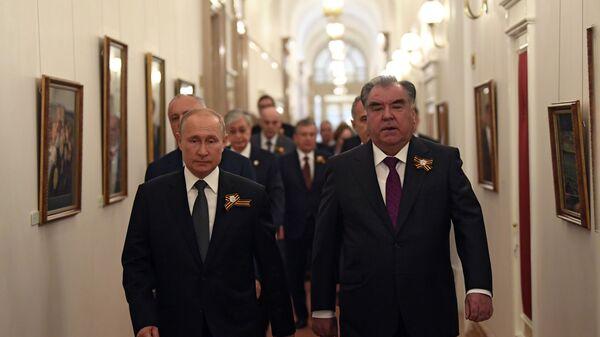 Встреча глав иностранных государств президентом РФ В. Путиным в Кремле - Sputnik Тоҷикистон