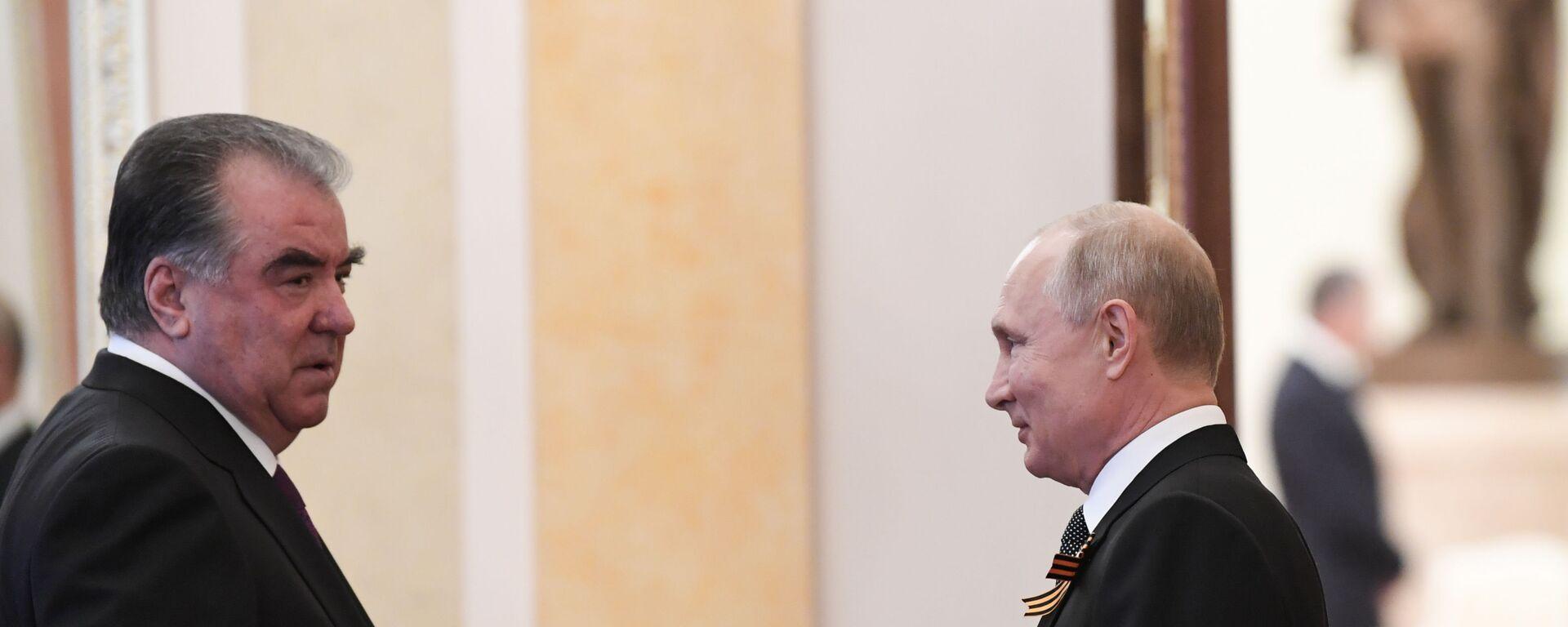 Президент России Владимир Путин и президент Таджикистана Эмомали Рахмон - Sputnik Тоҷикистон, 1920, 23.04.2021