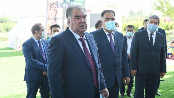 Визит Эмомали Рахмона в Согдийскую область. - Sputnik Таджикистан