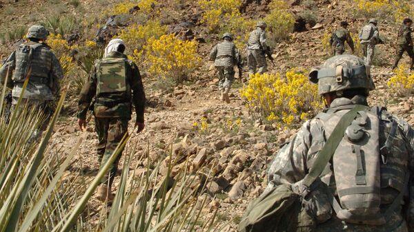 Солдаты армии США в районе Тирзае в провинции Ховст, Афганистан, архивное фото - Sputnik Таджикистан